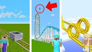 Minecraft NOOB vs PRO vs GOD : ROLLER COASTER CHALLENGE in minecraft / Animation