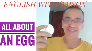 HOW TO SPEAK ABOUT AN EGG IN ENGLISH?