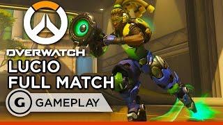 Lucio Full Match - Overwatch Gameplay