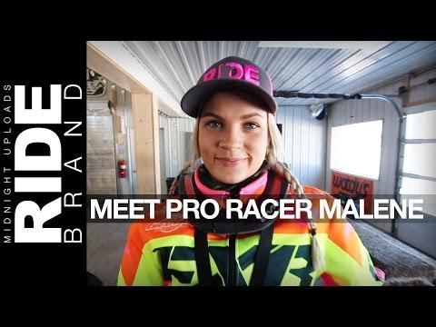GIRLS WHO RIDE !! Meet Pro Snowmobile Racer Malene Andersen from Norway - ERX Motorpark, Minnesota