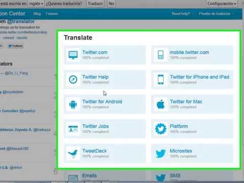 Como poner el traductor de twitter 2013