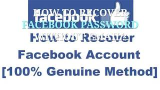 How To Recover Facebook Password Without Email or Phone Number? 2019