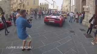 Josh Cartu during the Cavalcade 2015 makes noise with his 458 Speciale A