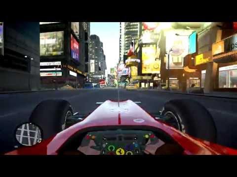 F1 Ferrari Fast Drive on New York Streets - Niko Bellic New Ferrari F10 Bolide Driver - GTA IV MOD
