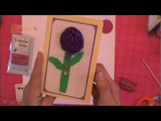 Fabric Flower Card - More for papercrafters on using Fabric Flowers