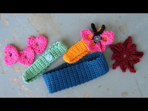 How to crochet a basic headband or hairband. easy