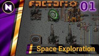 Factorio 0.17 Space Exploration #1 - CRASH LANDING