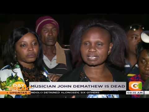 Kikuyu musician John De mathew dies after a road accident