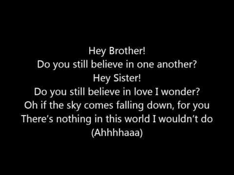 Avicii ~ Hey Brother (lyrics) video