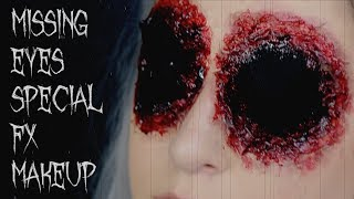 missing eyes sfx makeup tutorial | 31 Days of Halloween