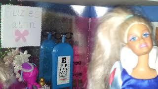 ELSIA ANNIA VISIT SUZIES SALON Purple nails frozen dolls ElSA day 7