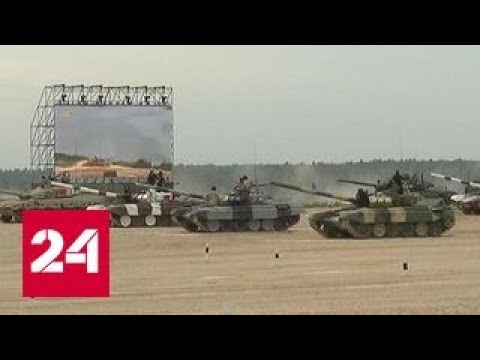 Танковый биатлон: лидируют китайцы