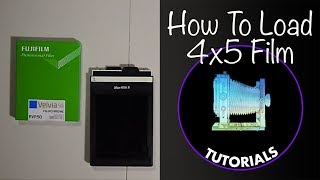 How to Load 4x5 film holders