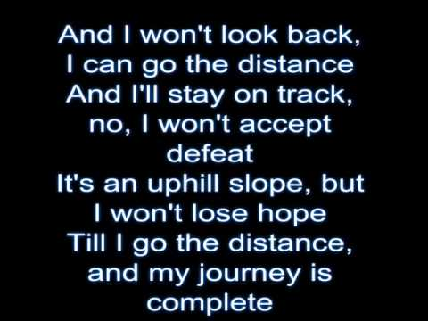 Go The Distance (instrumental) By: Michael Bolton video