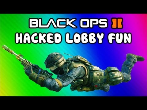 Black Ops 2 Hacked Lobby Funny Moments - Outside Rush, Dolphin Dives, Unlimited Hunter Killers