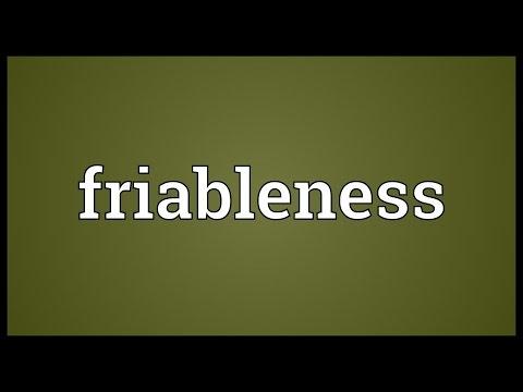 Header of friableness