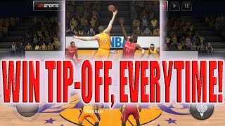 WIN THE TIP OFF EVERY TIME! NBA LIVE MOBILE ULTIMATE TIPS!