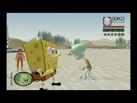SKIN BOB ESPONJA ,SPONGE GTA SAN ANDREAS FULL HD 1080p BY OLIVEIRA