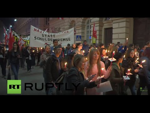 Austria: Hundreds hold torchlit march against arms trade in Vienna