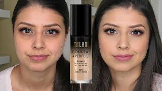 Milani Conceal + Perfect 2-In-1 Foundation + Concealer | Product Review