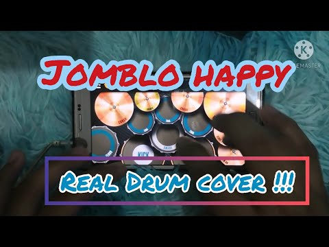 Jomblo happy ~ gamma band (real drum cover)