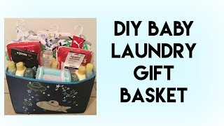 DIY| BABY LAUNDRY GIFT BASKET