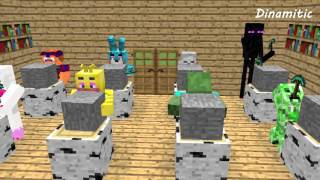 FNAF Monster School: Build Battle Sculptors - Minecraft Animation (Five Nights At Freddy
