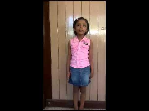 Theertha's Malyalam Recitation - Mambazham video