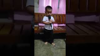 My baby trying to sing the Scientist