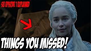Things You MISSED! Game Of Thrones Season 8 Episode 1 (Winterfell Explained)