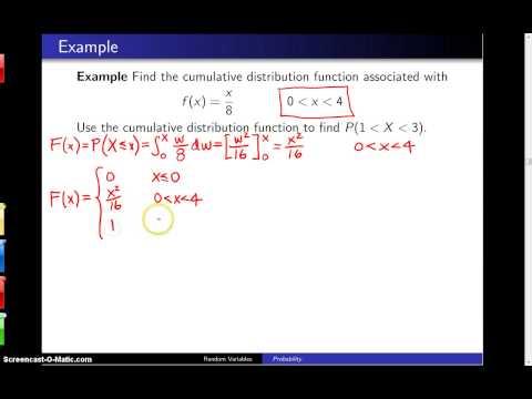 given cdf find pdf disrete random variable