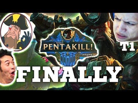 Tobias Fate PENTA KILL AS GANGPLANK VS TYLER1 | League of Legends