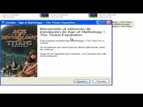 como descargar age of mythology + the titans expacion  loquendo