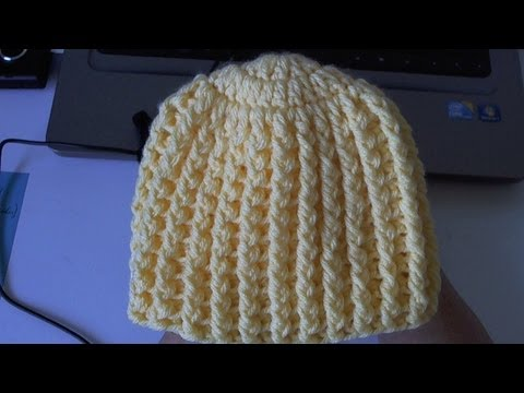 Learn to crochet Easy Ribbed Beanie/Cap Style 1  (Tambien en Español)