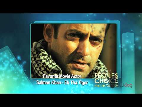 Salman Khan wins Favorite Movie Actor at the Peoples Choice...