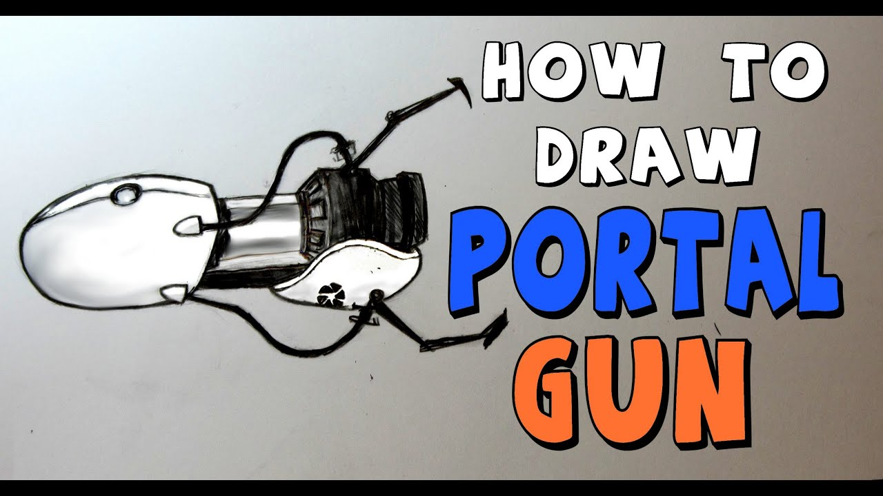 Portal Gun Drawing ep 110 How to Draw Portal Gun