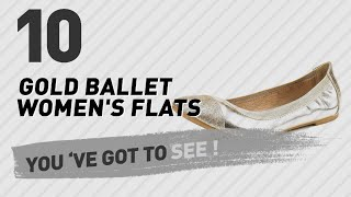 Gold Ballet Women's Flats // New & Popular 2017