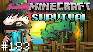 Minecraft : Survival - Chased By A Creeper! - #183