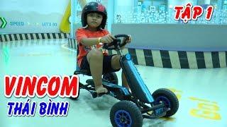 Trò chơi đi xe đạp có vô lăng như ô tô tại VINCOM Thái Bình❤Kênh Em Bé