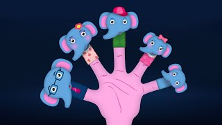 The Finger Family Elephant Family Nursery Rhyme | Elephant Finger Family Songs