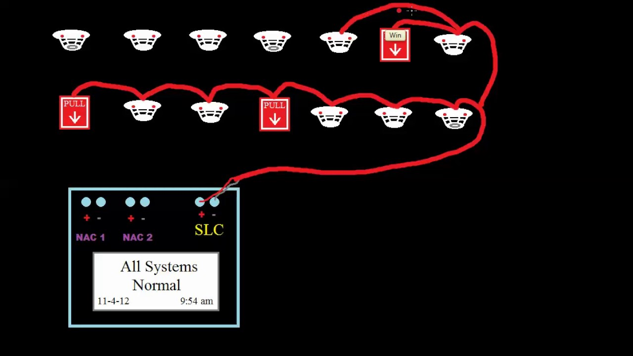 smoke detector wiring diagram introduction to fire alarms 21 intelligent panels youtube  introduction to fire alarms 21 intelligent panels youtube