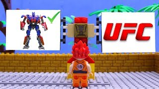 Transformers truck Optimus Prime, Hulk Marvel Superhero toys! LEGO car experemental