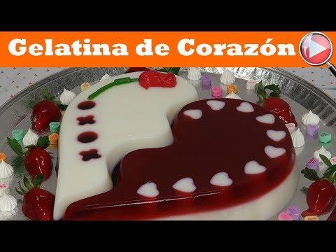 Gelatina de Corazón - Sabor Coco y Cereza - Recetas en Casayfamiliatv