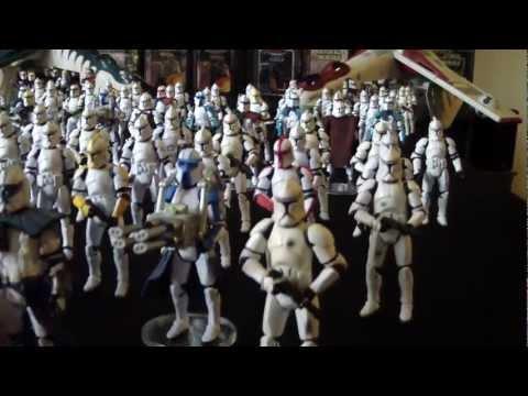 Clone trooper Army & Republic gunships Star Wars Episode II AOTC.MP4