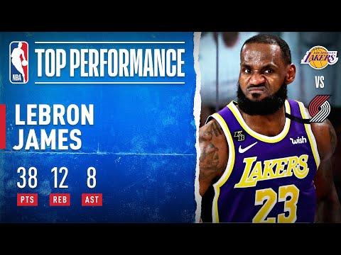 LeBron James no se detiene y le devuelve a los Lakes la ventaja con un tremendo 38+12+8 en los playoffs de la NBA