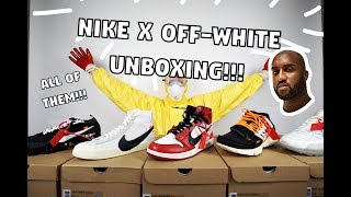 Unboxing ALL Of The Nike x Off-White Sneakers!!!