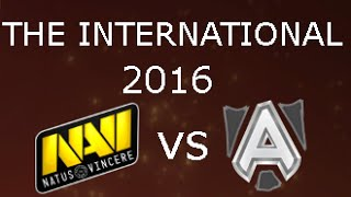 The International 2016 Alliance vs NaVi Group Stage Day 2 Game 1