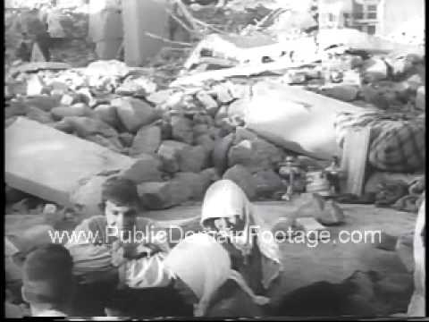 Natural Disasters Strike Iran Korea and Hong Kong 1962 Newsreel PublicDomainFootage.com