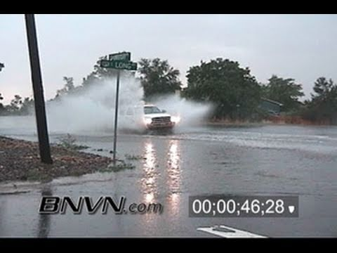 7/2/2006 Denver, CO Cars driving in flooding and flash flood video