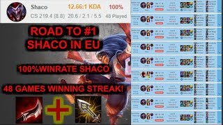 Shaco 48 Games Winningspree - Road to Worldrecord [League of Legends] Infernal Shaco
